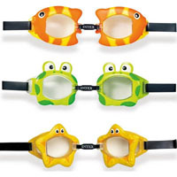 "Очки для плавания Intex, 55603 Обитатели моря ""Fun Goggles"" (3 вида)"